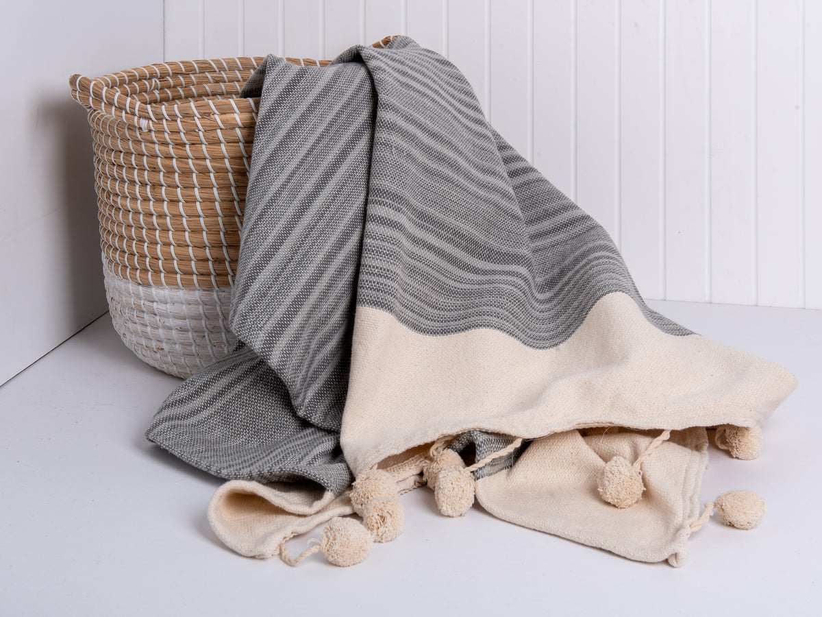gray ballarat throw