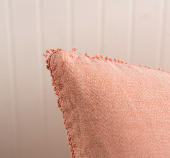 Pink Galeria Pillow with Pompoms