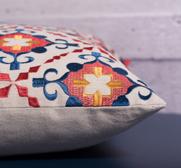 Gitan Embroidered Pattern Pillow by Déniché Boutique