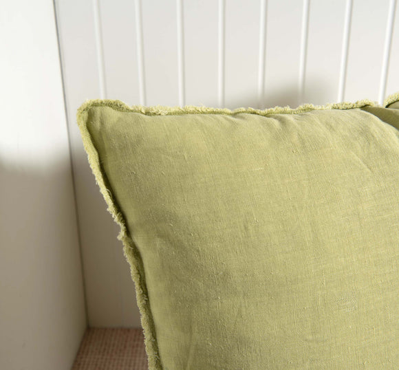 Lime Green Linen Ibiza Pillow