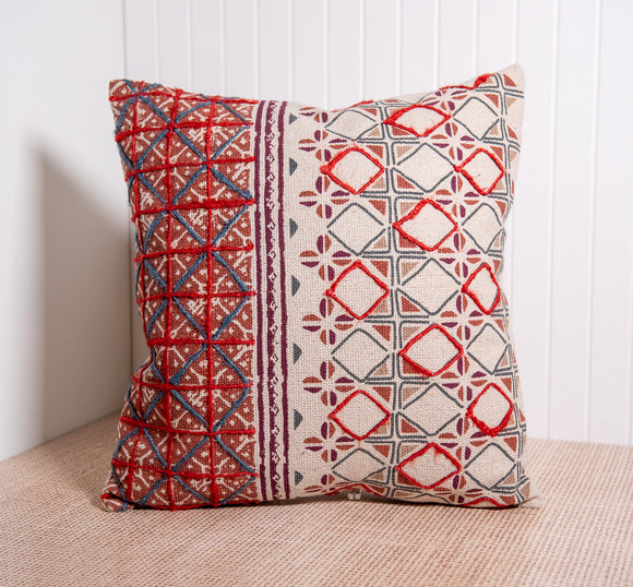 Khan Embroidered Bohemian Pillow