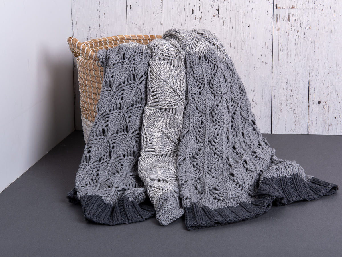 Margaux Grey Cotton Throw