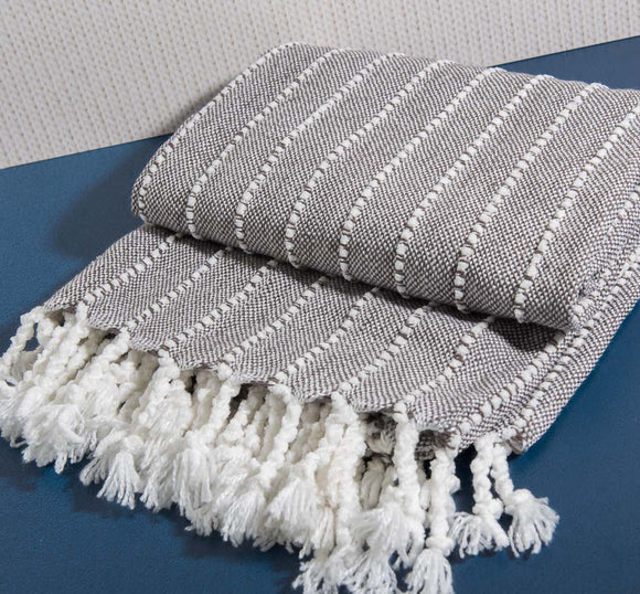 Grey & White Madison Throw