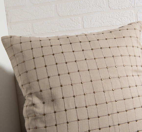 Beige Map Pillow