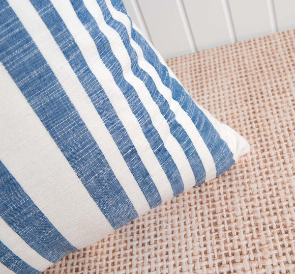 Blue Striped Rimatara Pillow
