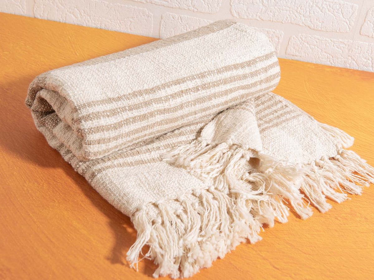 Beige & Cream Sahara Throw