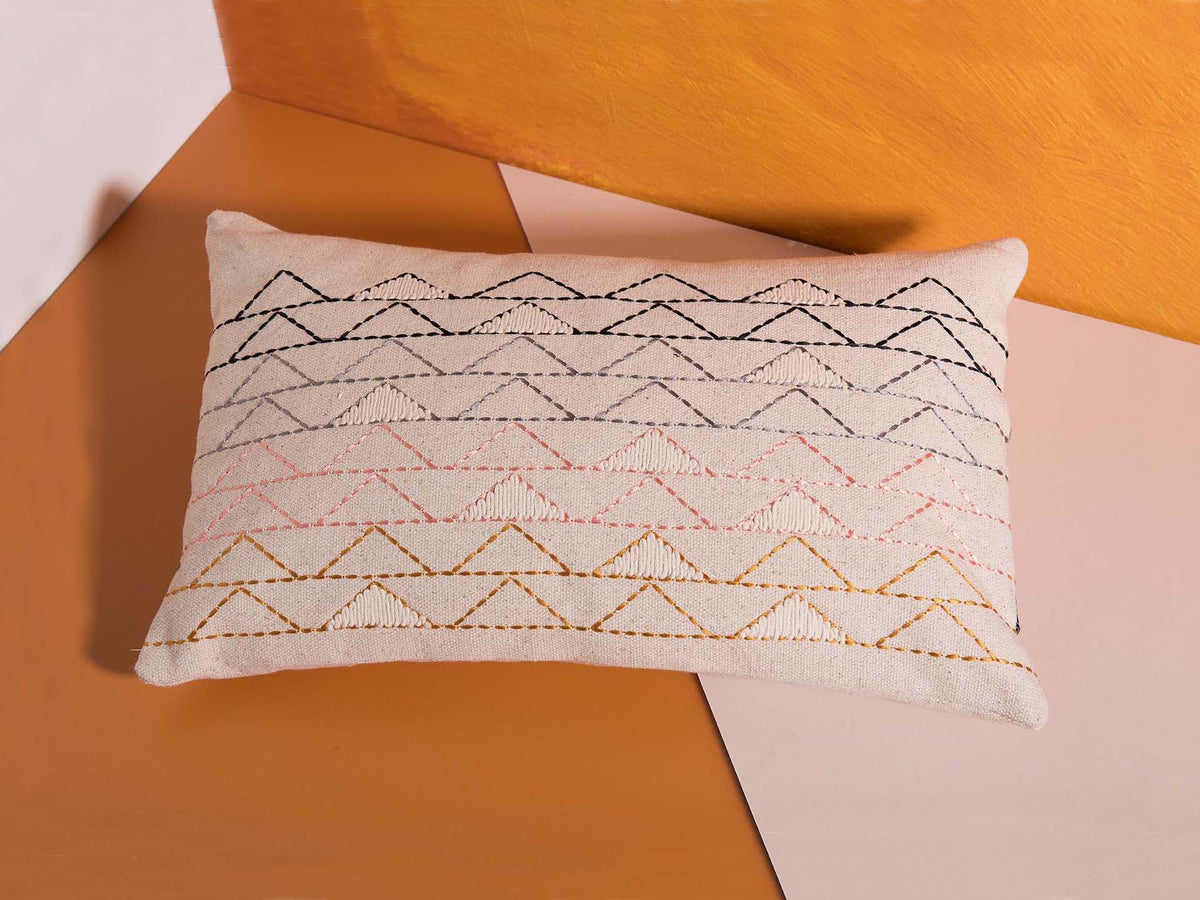 Cream boho cushion cover by Déniché Boutique