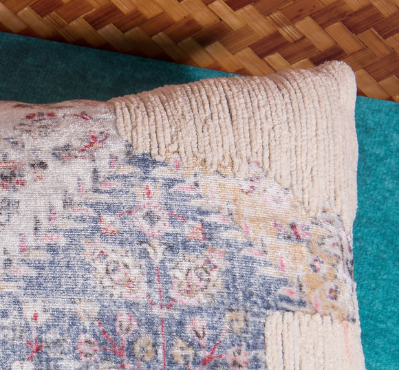 Vintage beige pattern decorative pillow by Déniché Boutique