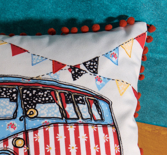 Decorative pillow with a westfalia by Déniché Boutique