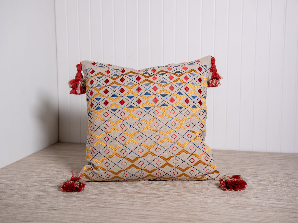 Embroidered Tzigane Pillow