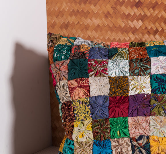 colorful patchwork pillow by Déniché Boutique