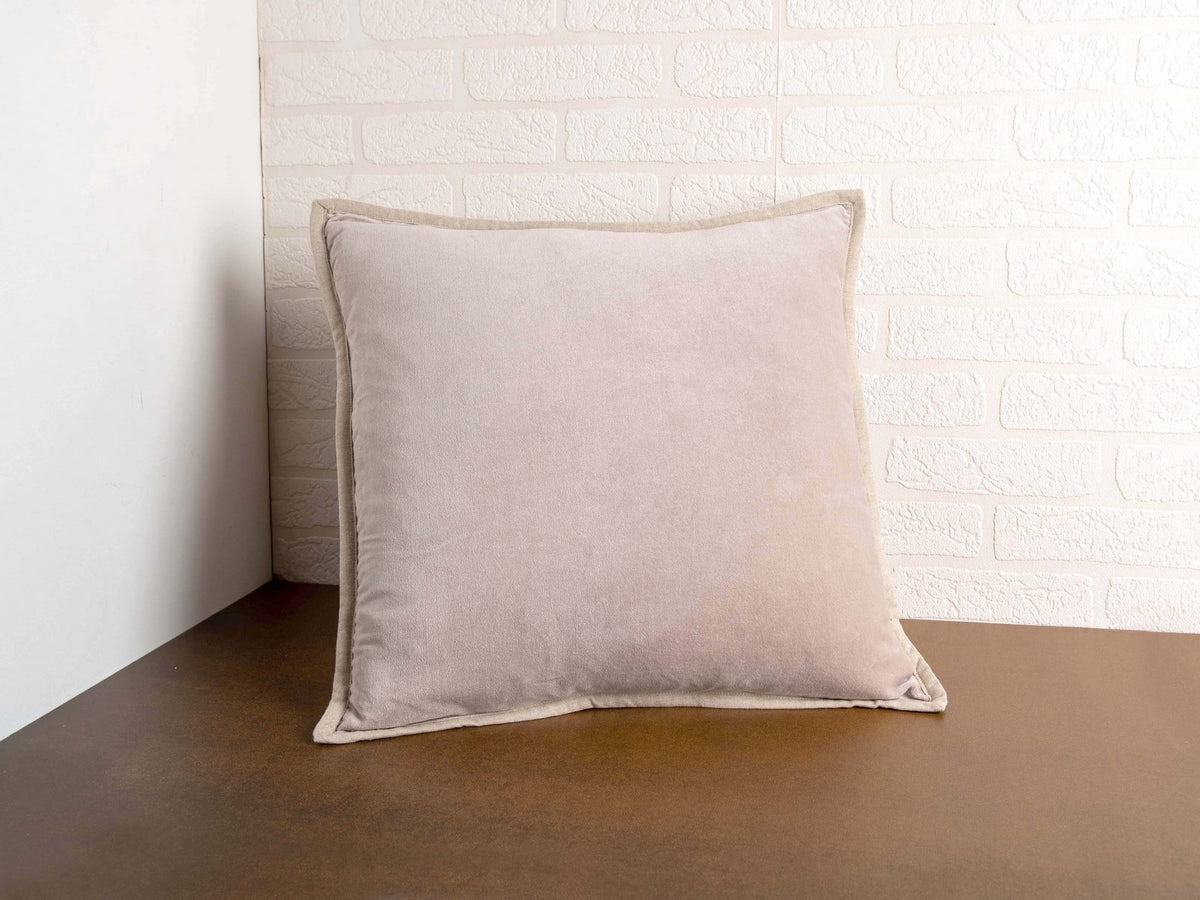 Beige Velvet Voge Pillow