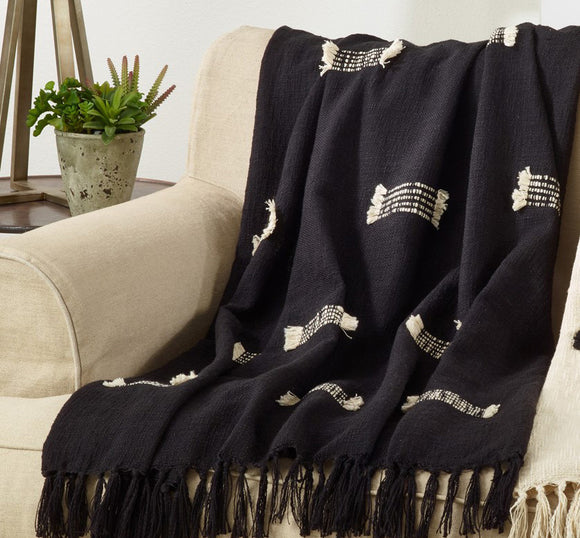 black yarca throw