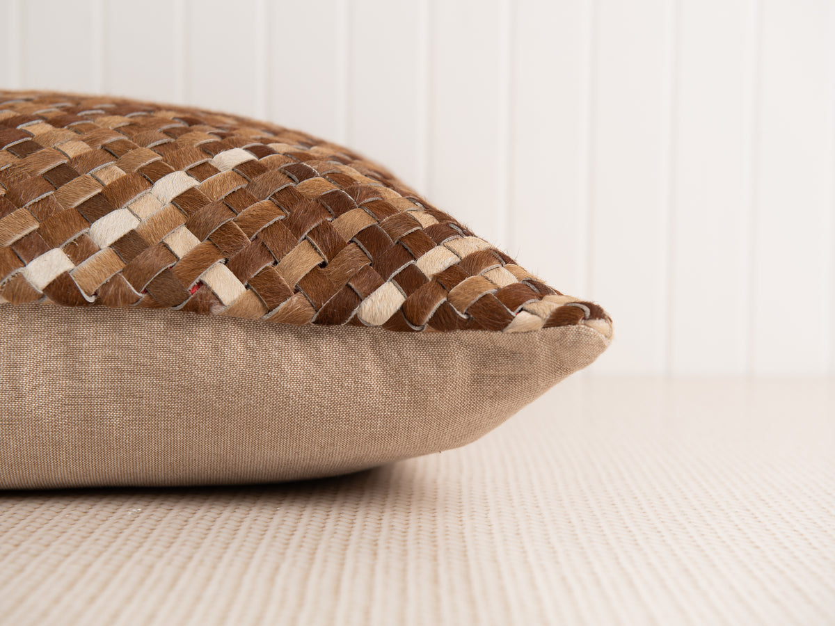 Nuovo Woven Cowhide Pillow