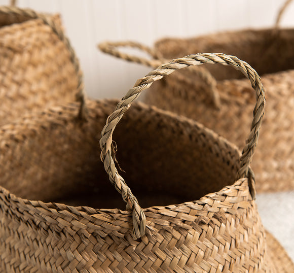 White bali baskets set of 3