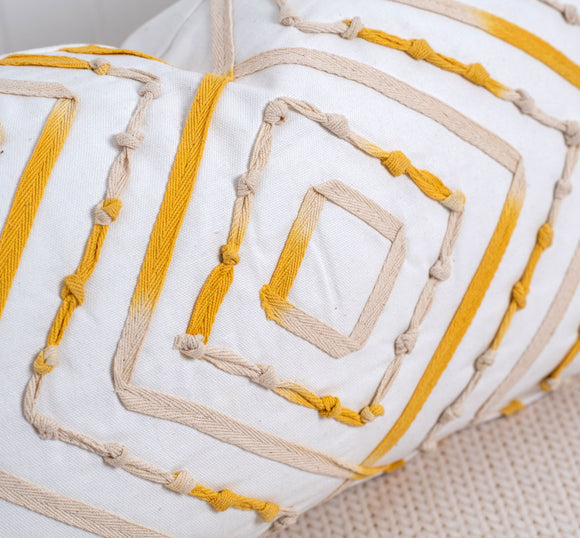 Yellow Mandala Pillow