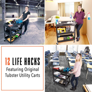 12 Life Hacks with Original Tubster Utility Carts