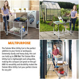 Collapsible 2 Shelf Folding Wire Cart | Tubstr