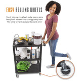 service cart non-marring, easy rolling wheels with heavy duty casters