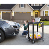 Compact and durable Original Tubstr Heavy Duty Utility Cart with two shelves by Stand Steady