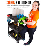 This utility cart / service cart is sturdy and durable