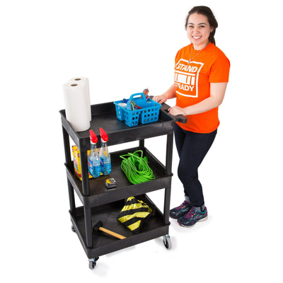 Tubster Compact Three Shelf Utility Cart / Service Cart