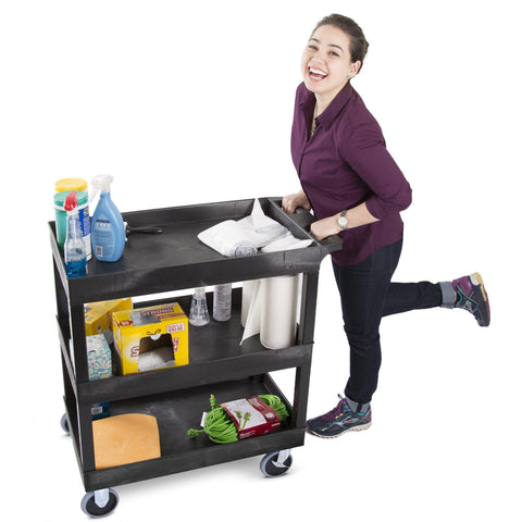 Utility Cart Three Shelf Heavy Duty | Tubstr