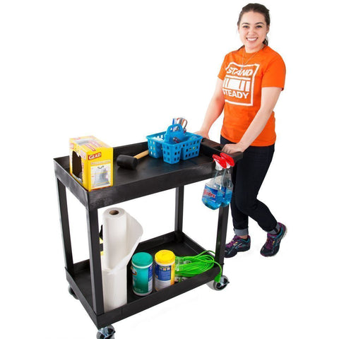 Original Tubstr Two Level Utility Cart By Stand Steady Carts And Stands