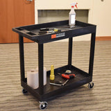 Tubstr Two Shelf Heavy Duty Utility Tub Cart