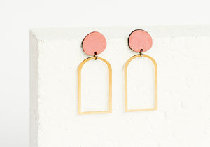 Arches Earring Clay
