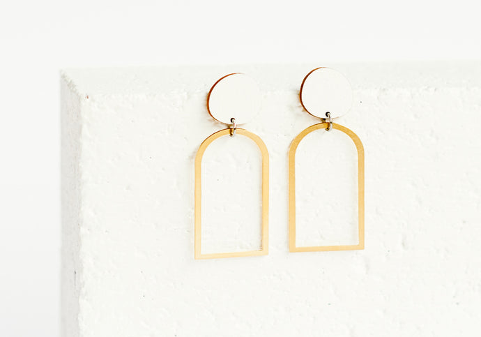 Arches Earring White