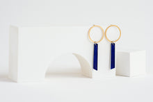 Load image into Gallery viewer, Axis Earring Indigo