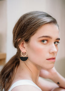 Luna Earring Black