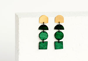 Blocks Earring Forest