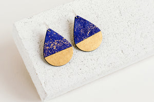Drop Earring Indigo Fleck