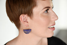 Load image into Gallery viewer, Boat Earring Indigo