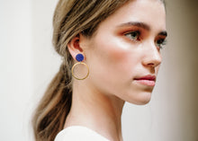 Load image into Gallery viewer, Orbit Earring Indigo