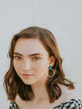 Load image into Gallery viewer, Hoopla Earrings Blue