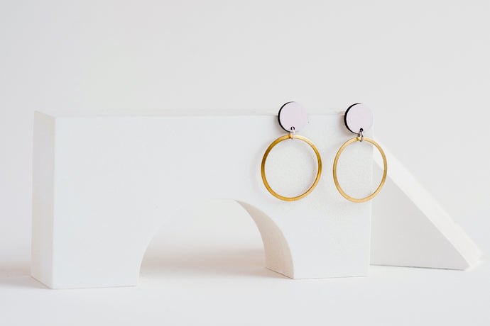 Orbit Earrings Blush