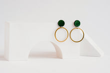 Load image into Gallery viewer, Orbit Earrings Forest