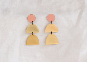 Double Drop Earring Clay