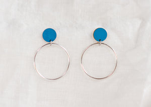 Hoopla Earrings Blue