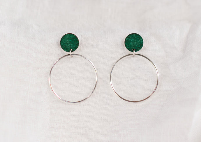 Hoopla Earrings Forest
