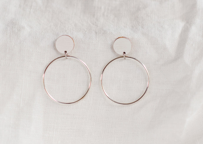 Hoopla Earrings White