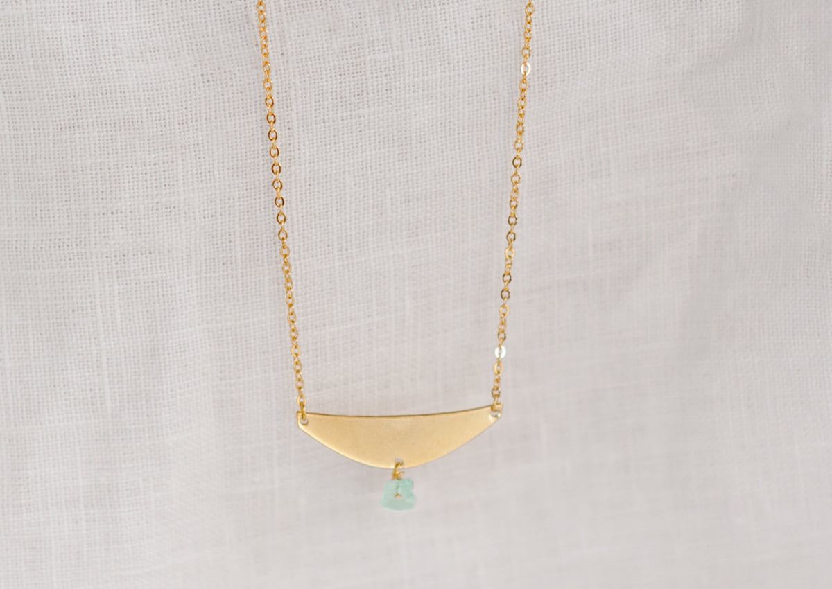 Ocean Necklace Green Glass