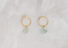 Load image into Gallery viewer, Ocean Earring Green Glass