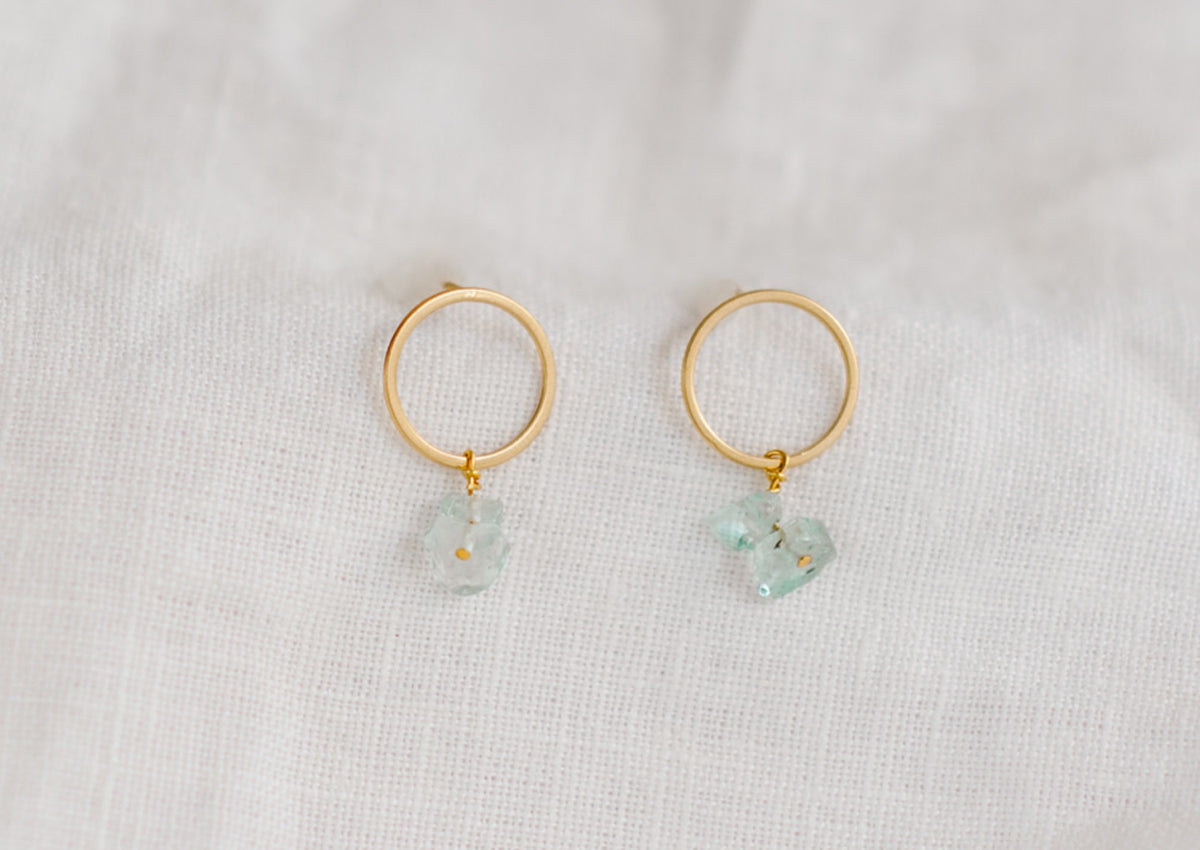 Ocean Earring Green Glass