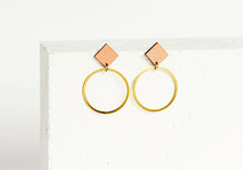 Load image into Gallery viewer, Rhombus Earring Clay