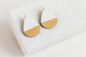 Drop Earring White