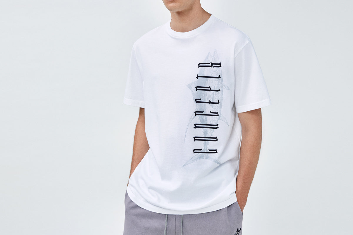 Concepts Gothic Fish Tee (White)